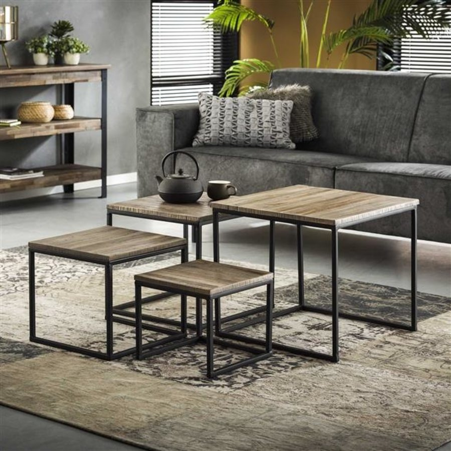 Industrial Coffee table (set of 4) Teco