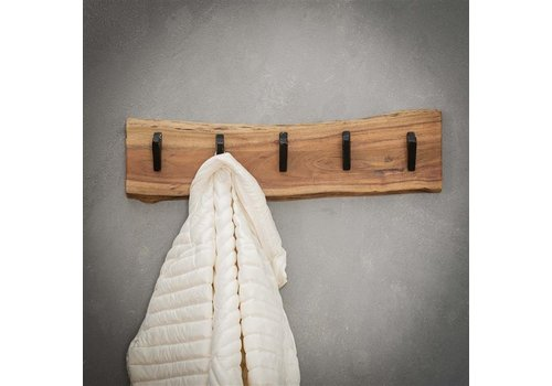 Wooden coat rack Tommy 5 hooks