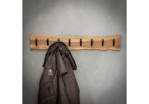 Wooden coat rack Tommy 8 hooks