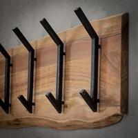 Wooden coat rack Tommy 2x6 hooks