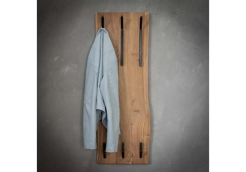 Wooden coat rack Tommy 2x3 hooks