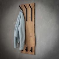 Wooden coat rack Tommy 2x3 hooks