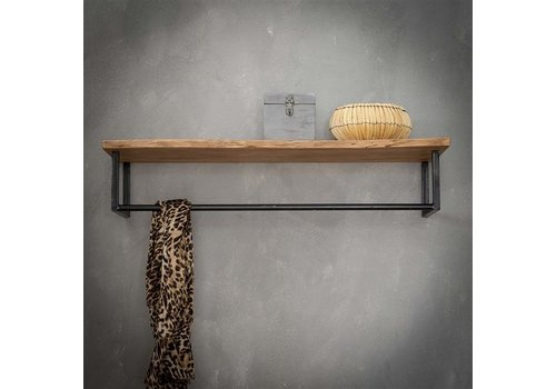 Wooden coat rack Tommy wall shelf
