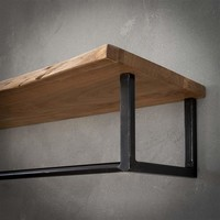 Wooden coat rack Tommy wall shelf