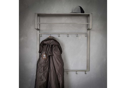 Industrial coat rack Max shelf and rod
