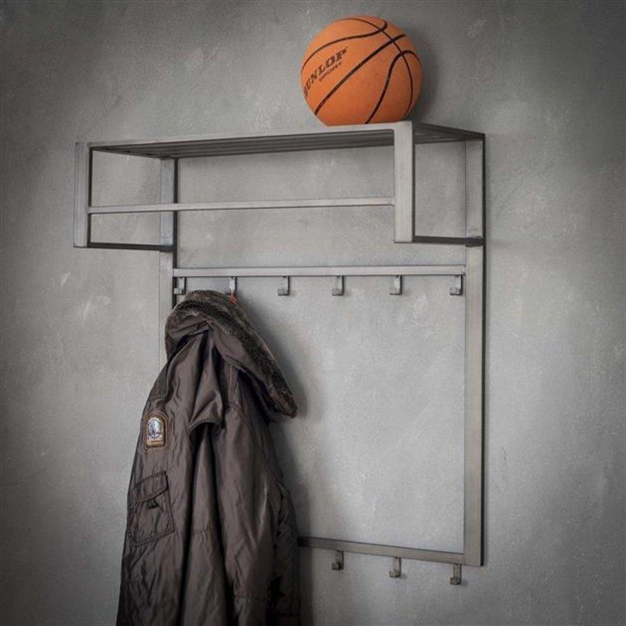 Industrial coat rack Max shelf and rod