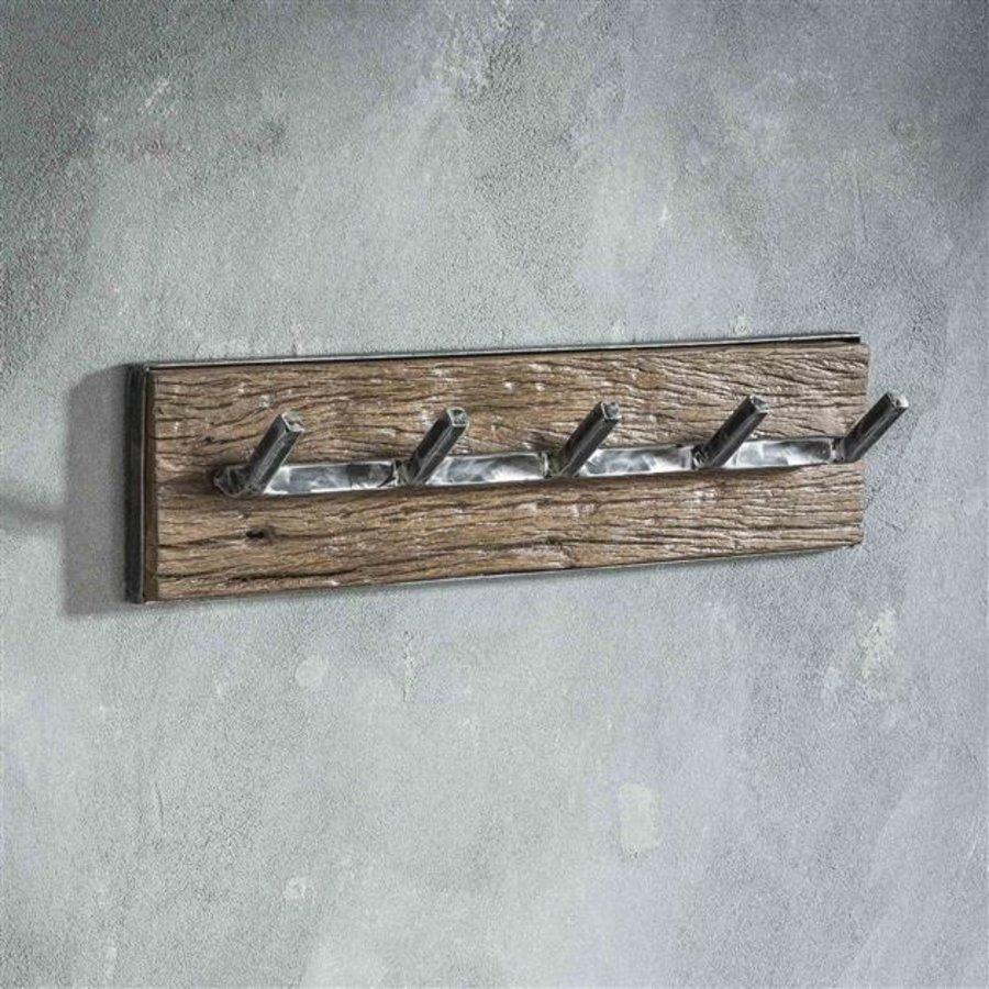 Hardwood coat rack Arthur 5 hooks