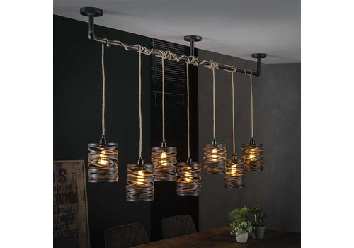 Industrial Ceiling Light Shearer 7 Pendants