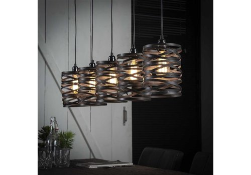Industrial Ceiling Light Shearer 5 Pendants