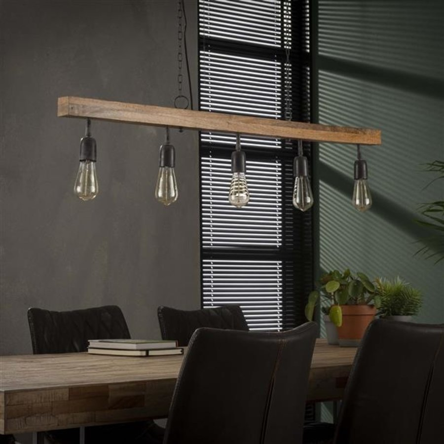 Ceiling light Modulo 5L single solid wood