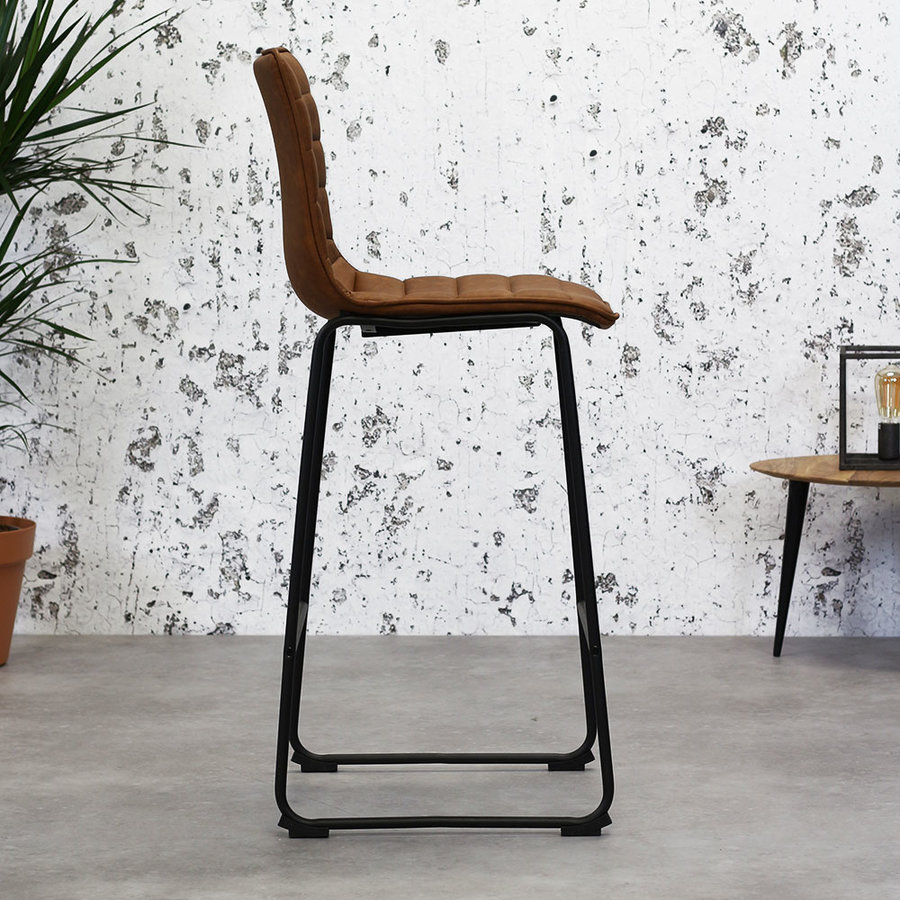 Industrial Bar Stool Ryan Cognac