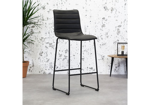 Industrial Bar Stool Ryan Anthracite PU