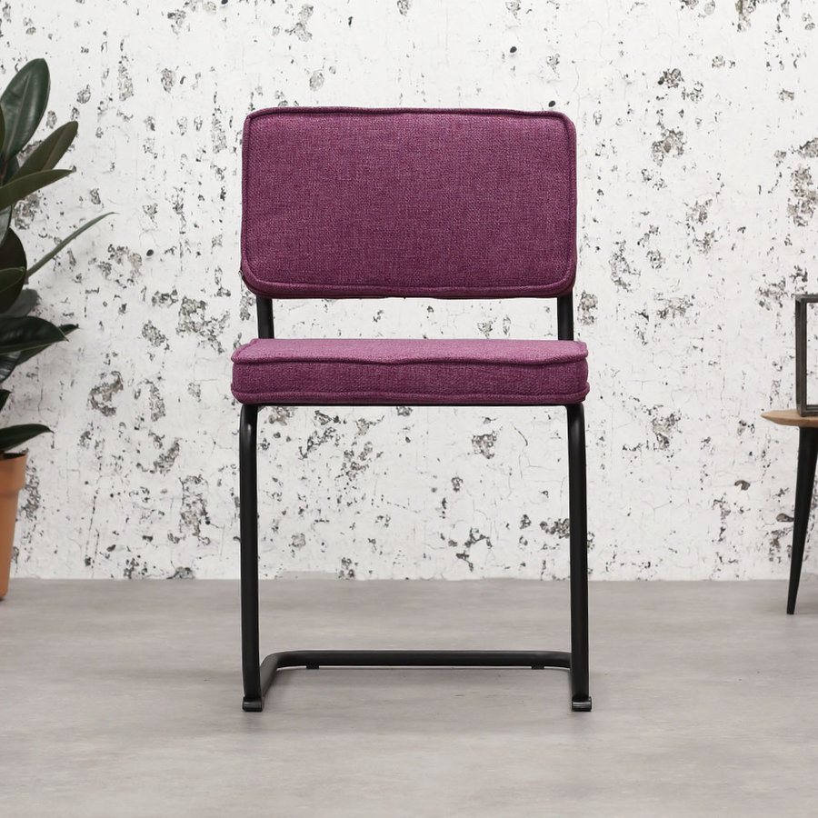 Industrial dining chair Martin Purple