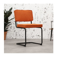 Industrial dining chair Martin Orange
