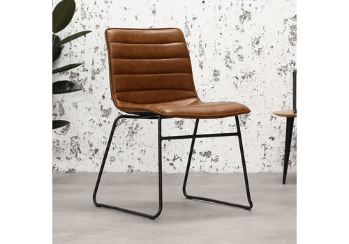 Industrial Dining chair Ryan Cognac