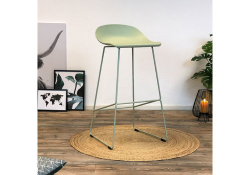 Modern Bar Stool Erica green H76 cm
