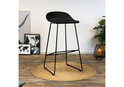 Modern Bar Stool Erica black H76 cm