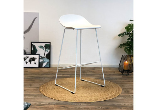 Modern Bar Stool Erica white H76 cm