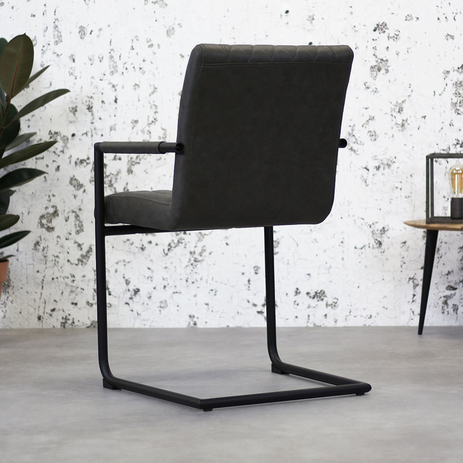 Industrial Dining Chair Damian Anthracite