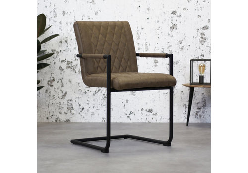 Industrial Dining Chair Damian Taupe