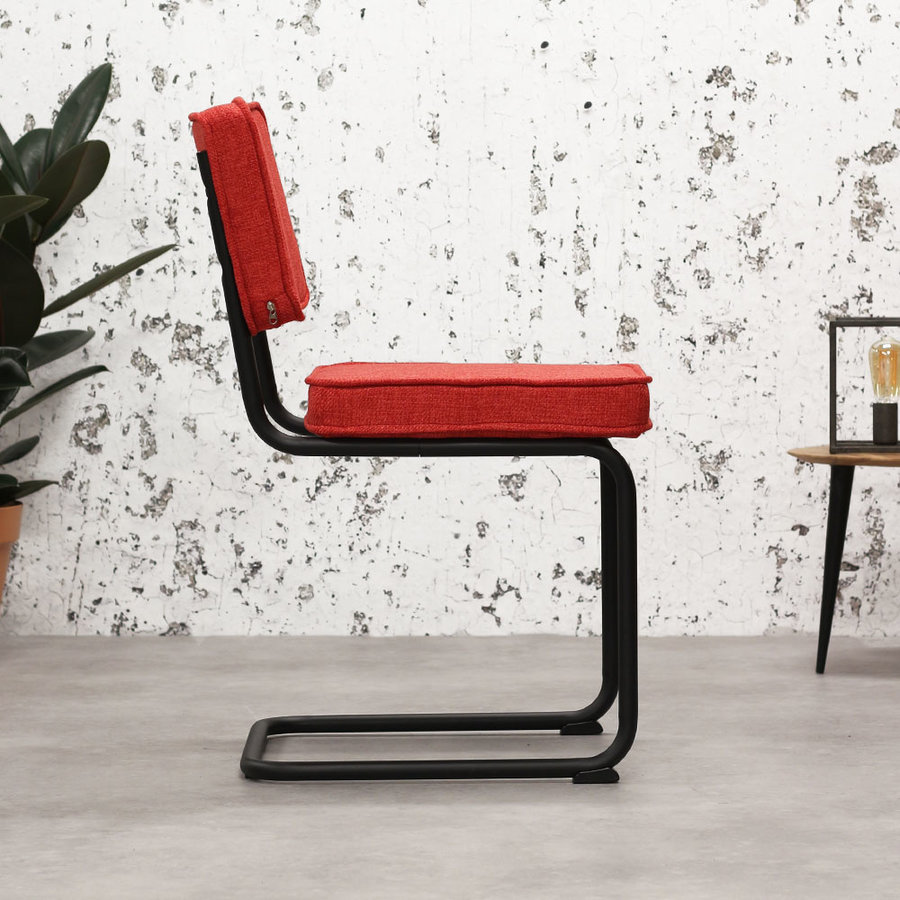 Industrial dining chair Martin Red