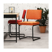 Industrial dining chair Martin Orange