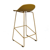 Modern Bar Stool Erica yellow H66 cm