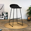 Modern Bar Stool Erica black H66 cm