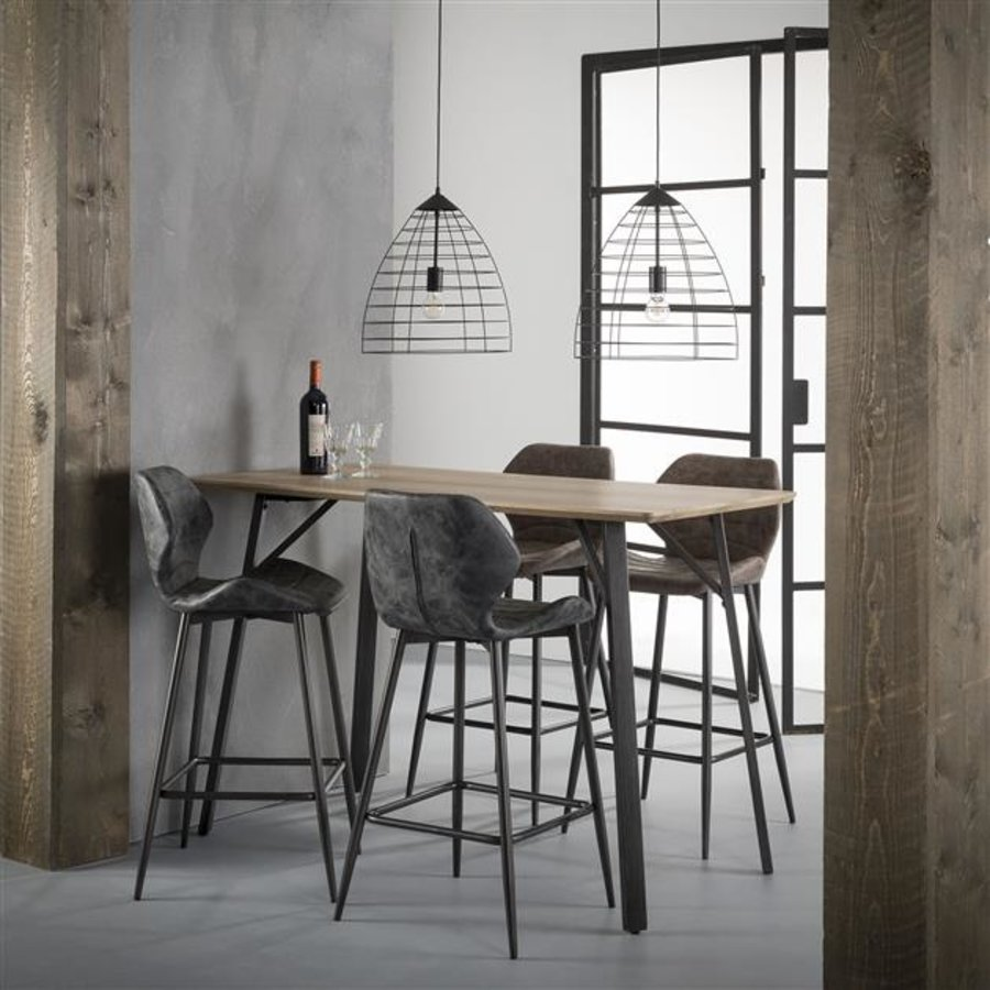 Bar stool Sterling PU leather Black