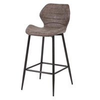 Bar stool Sterling PU leather Dark Brown