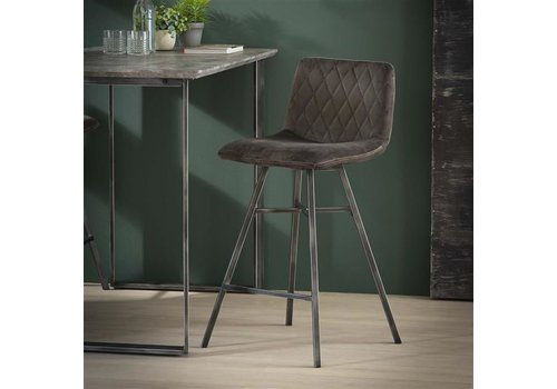 Bar stool Campbell Velvet Anthracite