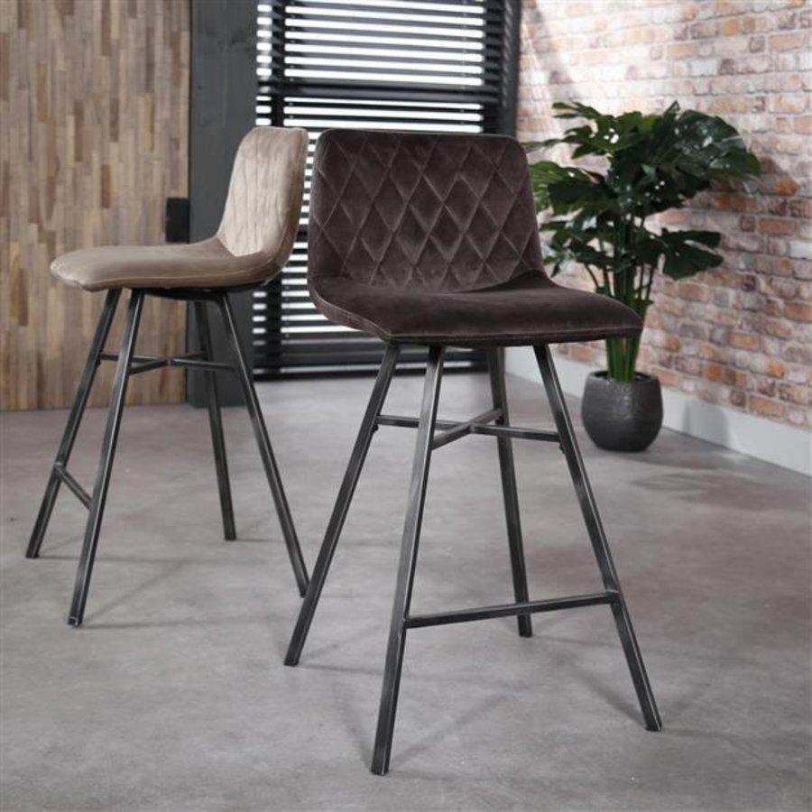 Bar stool Campbell Velvet Anthracite
