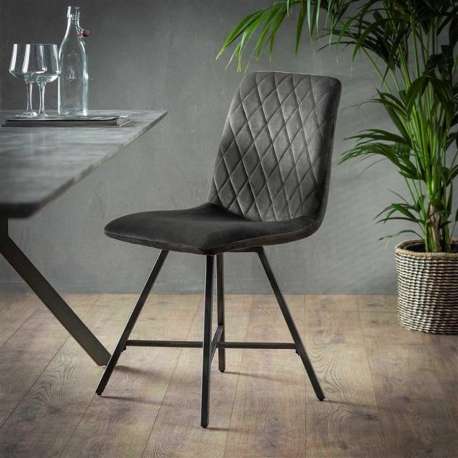 Industrial dining chair Campbell Anthracite