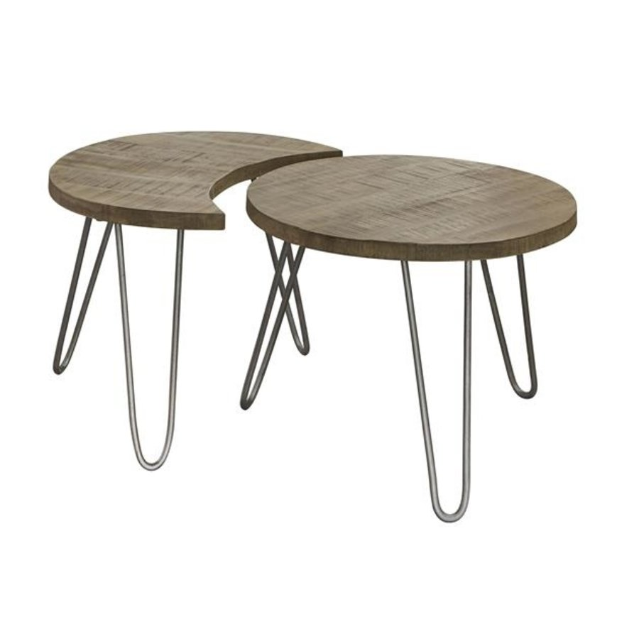 Industrial Coffee table Maddison Beige (set of 2)