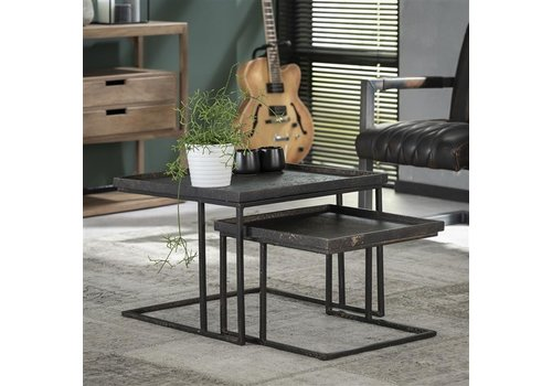 Industrial Coffee table Baines (set of 2)