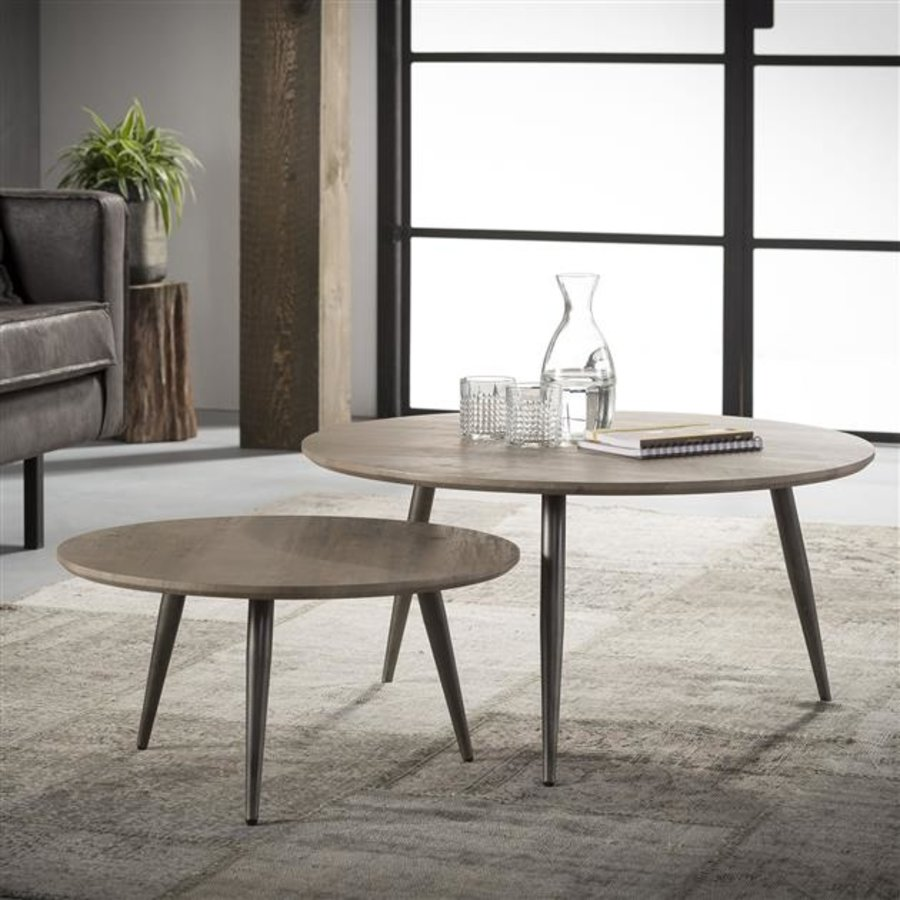 Industrial Coffee table Francis (set of 2)