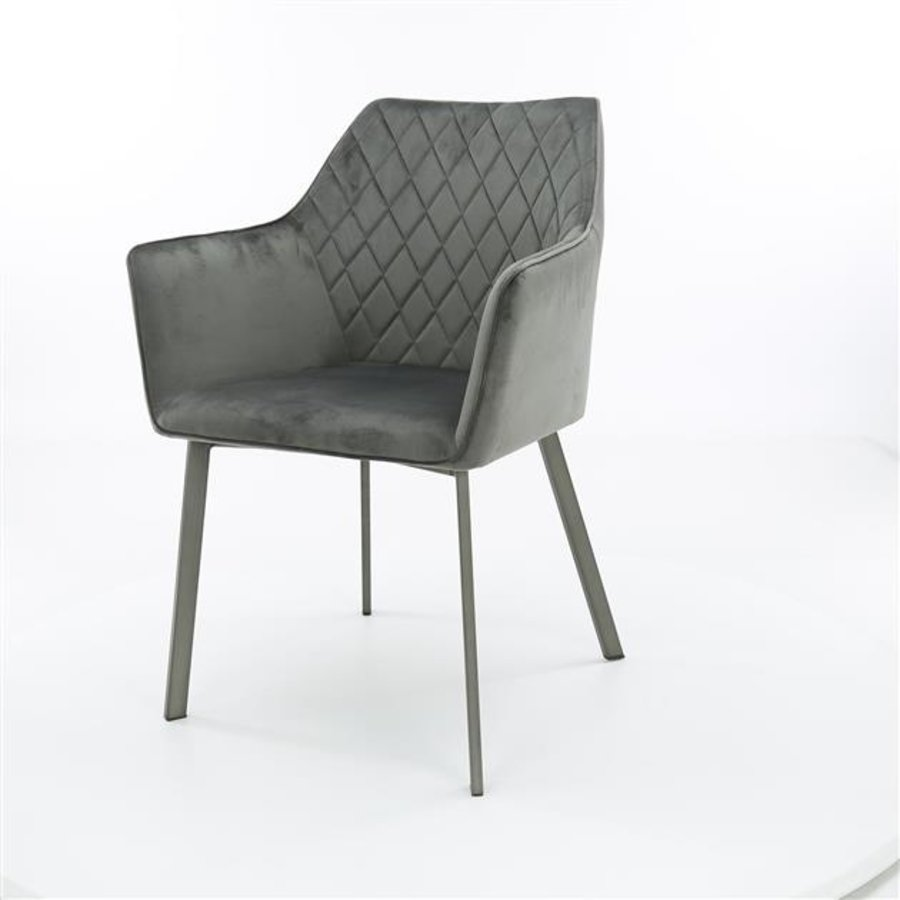 Industrial dining chair Bennett Anthracite