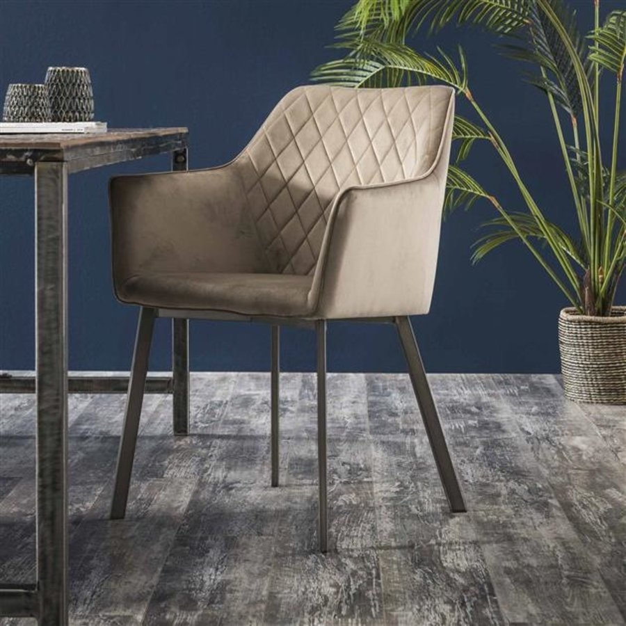 Industrial dining chair Bennett Brown