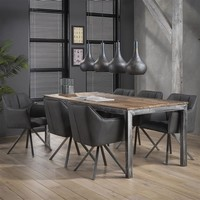 Industrial dining chair Brooks Black