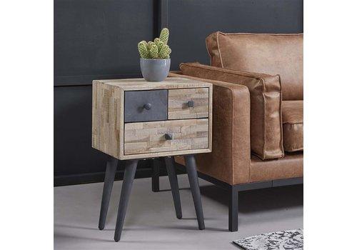 Bedside table Bunting Solid Teak Wood