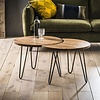 Industrial Coffee table Barkley (set of 2)