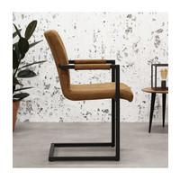 Industrial Dining Chair Brandon Cognac