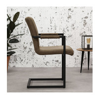 Industrial Dining Chair Brandon Taupe