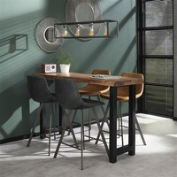 Industrial Bar Table Mawson Solid Acacia Wood