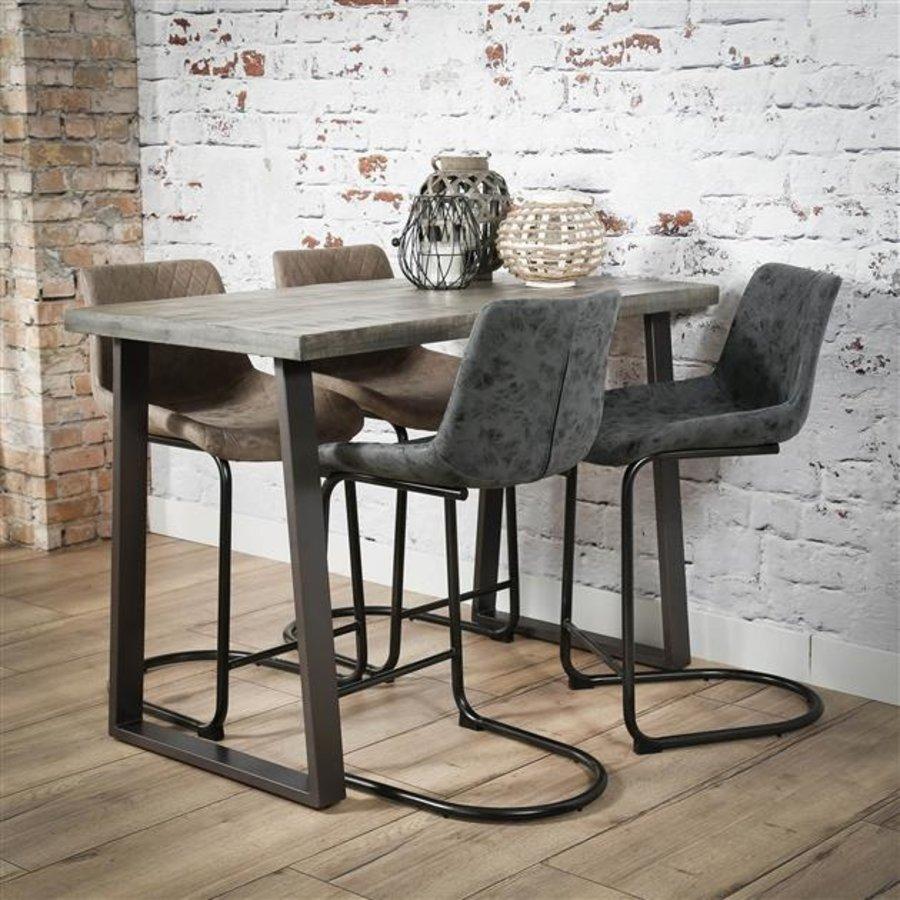 Industrial Bar Table Tomori Solid Mango Wood Grey