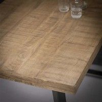 Industrial Bar Table Tomori Solid Mango Wood Brown