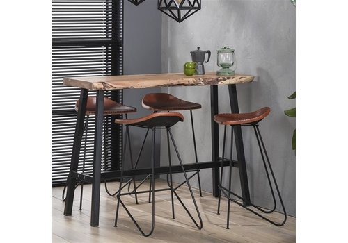 Industrial Bar Table Swift Solid Acacia Wood
