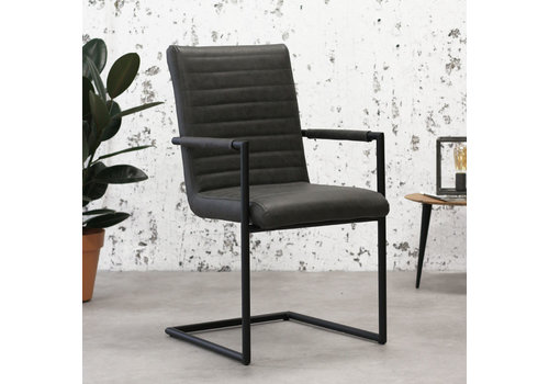 Industrial Dining Chair Bars Anthracite with arm