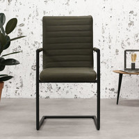Industrial Dining Chair Bars Green with arm