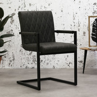 Industrial Dining Chair Rambo Anthracite with arm